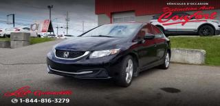 Used 2015 Honda Civic 4 portes, boîte manuelle, LX for sale in Chicoutimi, QC