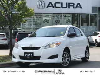 Used 2011 Toyota Matrix FWD 4A Convenience Pkg, A/C, Aftermarket Alloys for sale in Markham, ON