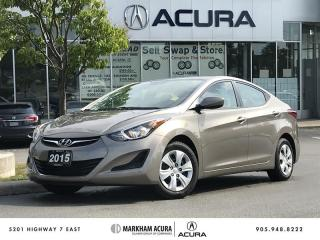 Used 2015 Hyundai Elantra L 6sp *MANUAL*, Low Mileage, USB Input for sale in Markham, ON