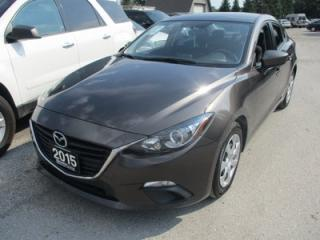 Used 2015 Mazda MAZDA3 6-SPEED MANUAL SPORT EDITION 5 PASSENGER 2.0L - DOHC.. SKYACTIV TECHNOLOGY.. CD/AUX/USB INPUT.. BLUETOOTH.. KEYLESS ENTRY & START.. for sale in Bradford, ON