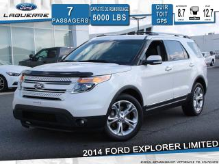 Used 2014 Ford Explorer LIMITED**AWD*7 PLACES*CUIR*TOIT*GPS*CAMERA** for sale in Victoriaville, QC