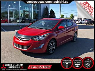 Used 2016 Hyundai Elantra GLS Toit Ouvrant Mags Bluetooth for sale in St-Jérôme, QC