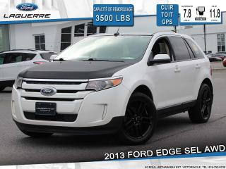 Used 2013 Ford Edge SEL AWD**CUIR*TOIT*GPS*CAMERA*BLUETOOTH*A/C** for sale in Victoriaville, QC