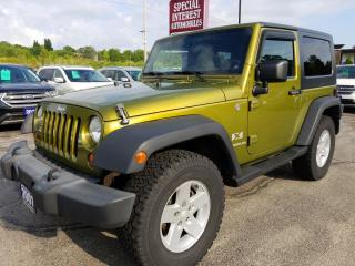 Used 2007 Jeep Wrangler X 6 SPEED MANUAL !!  2 TOPS !!  POWER OPTIONS !! for sale in Cambridge, ON