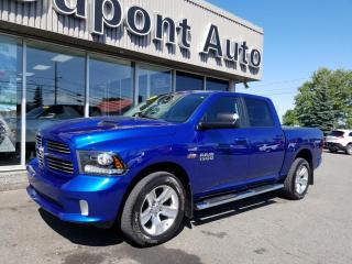 Used 2017 RAM 1500 Cabine muliplaces 4RM, 140,5 po Sport for sale in Alma, QC