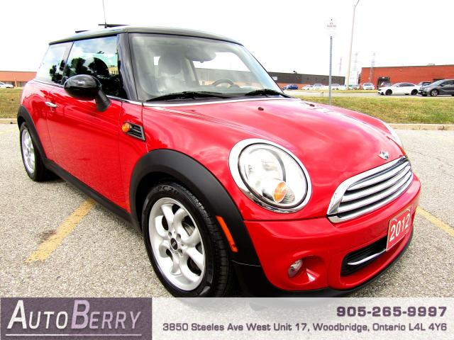 2012 MINI Cooper 1.6L - FWD - PANO - BLUETOOTH