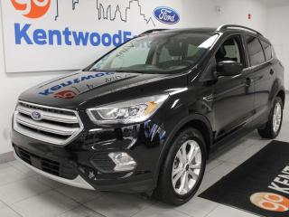 Used 2018 Ford Escape SEL 4WD ecoboost with keyless entry, power liftgate, power heated seats, sunroof, back up cam, and NAV for sale in Edmonton, AB