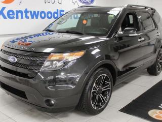 Used 2014 Ford Explorer SPORT 4WD ecoboost, keyless entry, power heated/cooling seats, sunroof, back up cam, and NAV for sale in Edmonton, AB