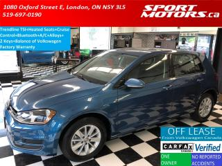 Used 2015 Volkswagen Golf Trendline TSI+Heated Seats+Bluetooth+A/C+Alloys for sale in London, ON