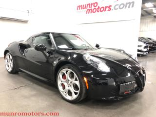 Used 2015 Alfa Romeo 4C Coupe Race Exhaust  Leather  Bi-Xenon Convenience Pkg for sale in St. George Brant, ON