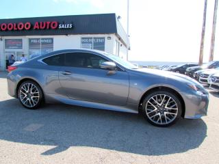 Used 2015 Lexus RC 350 F-SPORT-1 AWD NAVI CAMERA NO ACCIDENT CERTIFIED WARRANTY for sale in Milton, ON