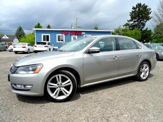 Used 2013 Volkswagen Passat COMFRTLINE TDI DSG Leather Sunroof Bluetooth Certified for sale in Guelph, ON