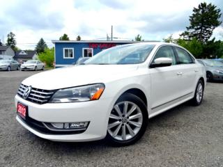 Used 2012 Volkswagen Passat Highline TDI DSG Navi Suede on Leather Sunroof Bluetooth Certified for sale in Guelph, ON
