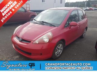 Used 2007 Honda Fit 5 portes,manuelle LX for sale in Rivière-Du-Loup, QC