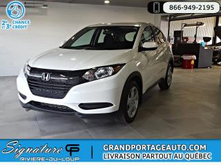 Used 2016 Honda HR-V LX FWD AUTO *CLEAN *FIABLE for sale in Rivière-Du-Loup, QC