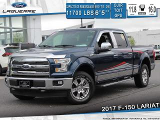 Used 2017 Ford F-150 LARIAT**CUIR*TOIT*GPS*CAMERA*BLUETOOTH*CRUISE*A/C* for sale in Victoriaville, QC