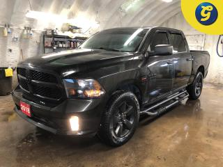 Used 2018 Dodge Ram 1500 CrewCab * 4 X 4 * 5.7L HEMI VVT V8 engine with FuelSaver MDS * 8 Speed Torque flute automatic * Parkview Rear back up camera * 20 x 8 inch Semi Gloss for sale in Cambridge, ON