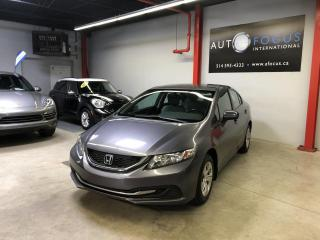 Used 2014 Honda Civic LX, AIR CLIMATISE, BLUETOOTH, 4 PORTES, for sale in Montréal, QC