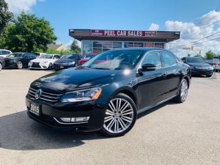 Used 2015 Volkswagen Passat COMFORTLINE|LEATHER|SUNROOF|REARVIEW|BLKONBLK for sale in Mississauga, ON