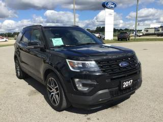 Used 2017 Ford Explorer Sport | 4WD | Accident Free | Rear View Camera for sale in Harriston, ON