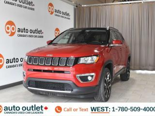 Used 2018 Jeep Compass Limited, 2.4L I4, 4wd, Navigation, Leather heated seats, Heated steering wheel, Panorama roof, Backup camera, Bluetooth for sale in Edmonton, AB