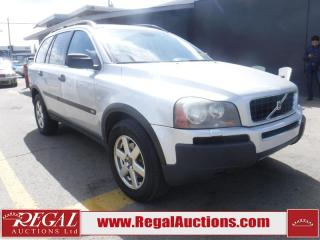 Used 2005 Volvo XC90 BASE 4D UTILITY 2.5T for sale in Calgary, AB
