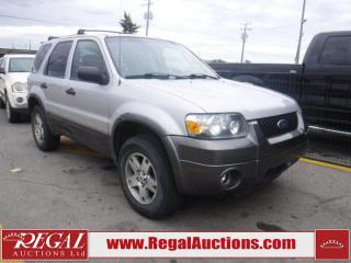 Used 2005 Ford Escape XLT 4D Utility FWD for sale in Calgary, AB
