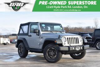Used 2018 Jeep Wrangler Sport - Manual, Fun and Sporty Model for sale in London, ON