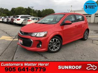 Used 2018 Chevrolet Sonic LT  TURBO RS-PKG ROOF CAM HTD-SEATS 17-ALLOYS AUTO for sale in St. Catharines, ON