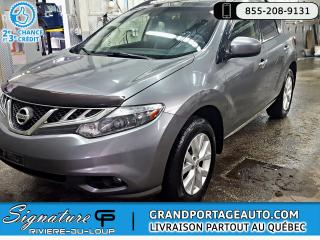 Used 2013 Nissan Murano SL AWD Toit *BAS PRIX* for sale in Rivière-Du-Loup, QC