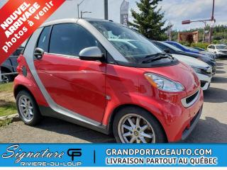 Used 2010 Smart fortwo Cabriolet 2 portes Passion for sale in Rivière-Du-Loup, QC