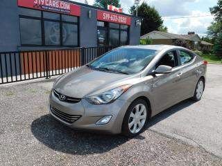 Used 2013 Hyundai Elantra Limited|LEATHER|SUNROOF|BLUETOOTH|AUX/USB for sale in St. Thomas, ON