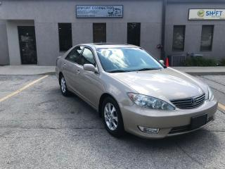 Used 2005 Toyota Camry XLE V6 ,NO ACCIDENTS ,CERTIFIED ! LEATHER,SUNROOF for sale in Burlington, ON