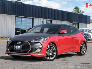 Used 2016 Hyundai Veloster Turbo,LOW KMS,NAVI,PANO,R/V CAM,B.TOOTH for sale in Barrie, ON