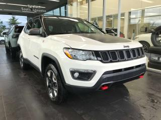 Used 2018 Jeep Compass TRAILHAWK 4WD, ACCIDENT FREE, PANORAMA SUNROOF, KEYLESS IGNITION, NAVI for sale in Edmonton, AB