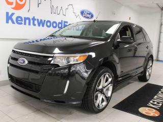 Used 2014 Ford Edge Sport AWD with NAV, sunroof, keyless entry and back up cam for sale in Edmonton, AB