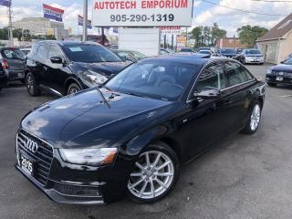 Used 2015 Audi A4 S Line Quattro Progressive S-line Navigation/Leather/Sunroof for sale in Mississauga, ON