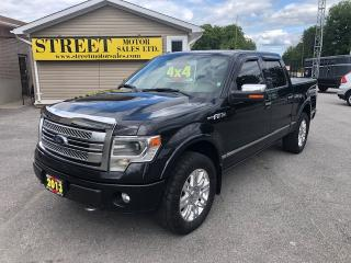 Used 2013 Ford F-150 PLATINUM CREW CAB 4X4 NO ACCIDENTS for sale in Smiths Falls, ON