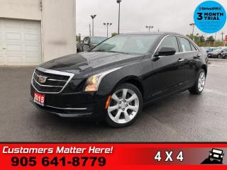 Used 2015 Cadillac ATS 2.0 Turbo  AWD LEATHER CAM HTD-STS BT for sale in St. Catharines, ON