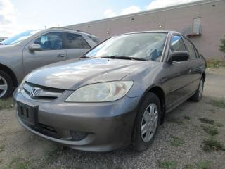 Used 2005 Honda Civic DX, HEAT/AC, MATS for sale in Brampton, ON