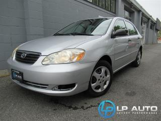 Used 2005 Toyota Corolla CE for sale in Richmond, BC