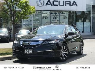 Used 2016 Acura TLX 2.4L P-AWS w/Tech Pkg Navi, Backup Cam, Blind Spot Info for sale in Markham, ON