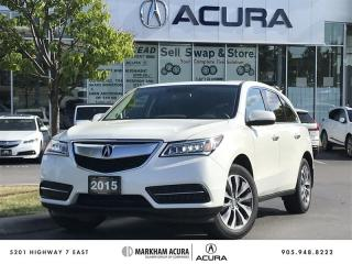 Used 2015 Acura MDX Navigation at SH-AWD, 3.5L V6 290HP, Power Liftgate for sale in Markham, ON