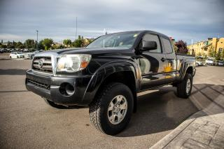 Used 2010 Toyota Tacoma V6 engine, 5 speed manual transmission, power equipment group, bluetooth stereo for sale in Okotoks, AB