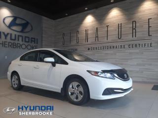 Used 2015 Honda Civic LX+CAMERA+DEMARREUR+BANCS CHAUF+BLUETOOT for sale in Sherbrooke, QC