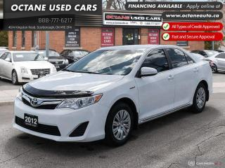 Used 2012 Toyota Camry HYBRID LE Accident Free! for sale in Scarborough, ON