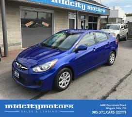 Used 2014 Hyundai Accent GL/Great on Gas/Low KMs/No Accidents for sale in Niagara Falls, ON