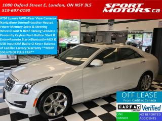 Used 2015 Cadillac ATS Luxury AWD+GPS+Camera+Sunroof+Sensors+New Tires for sale in London, ON