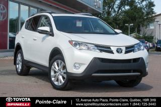 Used 2015 Toyota RAV4 LIMITED CUIR, MAGS, DÉMARREUR À DISTANCE for sale in Pointe-Claire, QC