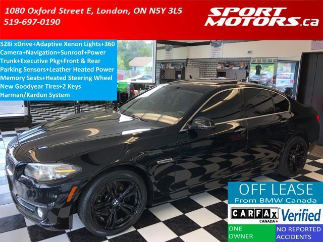 2015 BMW 5 Series 528i xDrive+GPS+360 Camera+Sensors+Xenons+Leather